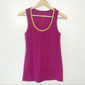 Soft Surroundings • Soft Pink & Gold Tank Top